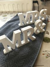 Mr and Mrs wooden letters