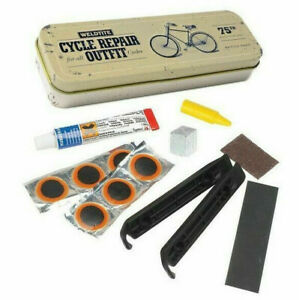WELDTITE TYRE LEVERS PATCHES RUBBER SOLUTION VINTAGE BIKE PUNCTURE REPAIR KIT