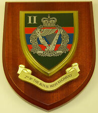 2ND BTN ROYAL IRISH REGIMENT CLASSIC HAND MADE IN THE UK REGIMENT MESS PLAQUE