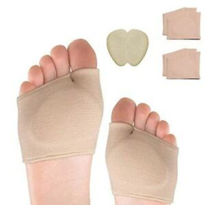 Metatarsal Sleeve Pads-2-Pair Ball of Foot Cushions and 1-Pair Gel Forefoot