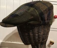 Mucros Tartan Plaid Forest Green Kerry Flat Cap Hat Tweed Irish Wool Size M