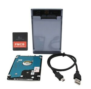 New SATA HDD External 2TB / 1TB + FMCB PS2 Hard Drive USB 3.0 With 399+ Games