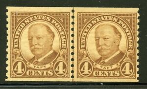 US Scott 687 Taft Perf 10 Vertically NH Joint Line Pair
