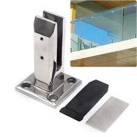 Stair handrail Glass Spigots Pool Fence Frameless Balustrade Post Clamp US STOCK