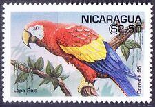 scarlet macaw, lapa Roja, Parrots, Nicaragua 1995 MNH - D16