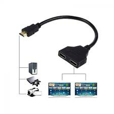 Switch Cable Splitter 1080p HDMI Male To 2 Female Converter 1 In 2 Out