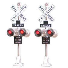 Tomar Industries H-862B HO 2 Railroad Crossing Signals LED's H862B modelrrsupply