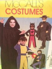 McCalls Sewing Pattern 5952 Childs Boys Zorro Racer Batman Costume Size 7-14 UC