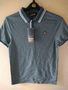 Men's admiral Polo Shirt green size small bnwt