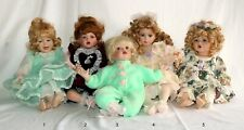 Doll Lot (2 of 7) Five (5) Porcelain Dolls Fayza Spanos Hfc Hershey Kiss
