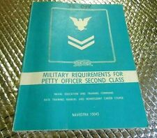 1984 Naval Training book Petty Officer Second Class Military Requirements Navy