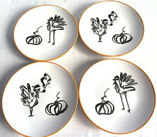 "4 Boss Turkey Plates 2 Different Designs by Magenta Rae Dunn 6"""