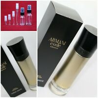Giorgio Armani Code ABSOLU Parfum SAMPLE 2ml 3ml 5ml 10ml 15ml 30ml Glass Spray