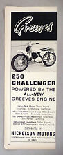 Greeves 250 Challenger Motorcycle PRINT AD - 1965