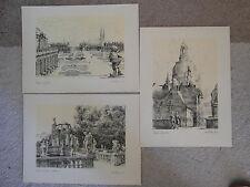 Arnd Wittig  6 Federzeichnungen von Dresden aus dem Jahr 1944