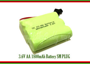 3.6V AA Ni-MH 1800mAh rechargeable battery SM Plug Phone RC Toy Electric tool x2