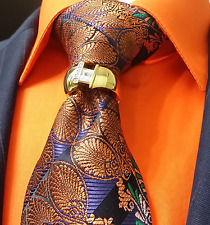 MENS NECK TIE BLING RING CLASP CHARM TACK PIN JEWEL WEDDING GROOM DISCOUNT 18K