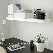High gloss White Black Floating Wall Mounted Shelves bookcase shelving shelf