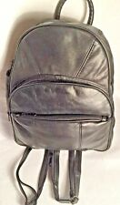 Women's Small Leather Backpack Handbag Purse Color Black
