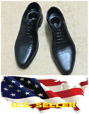 "1/6 man dress shoes black for James Bond 12"" figure Hots toy Phicen ❶❶USA❶❶"
