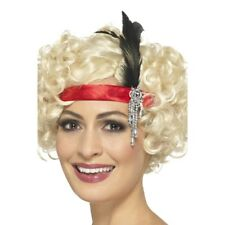 20s 30s Charleston Flapper Feather Red Headband Fancy Dress Costume Gangster