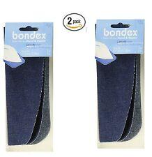 "Bondex Iron-On Patches 5""X7"" 2/Pkg-Denim, 2 Packs of 2 per pack"
