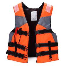 Professionell ISO Rettungsweste Erwachsene Schwimmweste für Rafting Orange 130KG