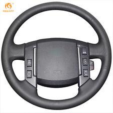DIY Black Leather Steering Wheel Cover for Land Rover Freelander 2 2007-2012