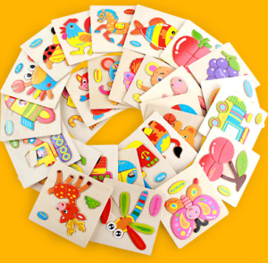 Wooden 3D Puzzle Jigsaw Toys For Children