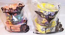 LEGO BATMAN Movie McDonald's Batman Cups: 3 and 5, Robin,Batgirl Happy Meal