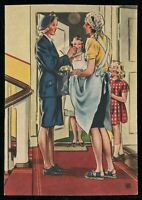 WW2 WWII Germany 3rd Reich Postcard German Cover Hitler Women War Aid 1940 Mint