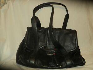 Large Radley Black Leather Ladies Handbag