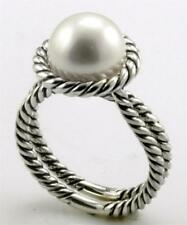 DAVID YURMAN PEARL CABLE RING STERLING SILVER SIZE 7.5