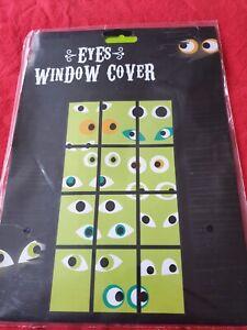 Halloween Decorations - Eyes Window Cover