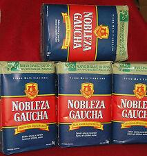 YERBA MATE TEA NOBLEZA GAUCHA - FOUR 2.2. LBS BAGS - 9.1 Lbs - 4 Kilos