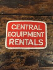 Vtg Central Equipment Rentals Red Deer Alberta Canada Sew On Patch Embroidered