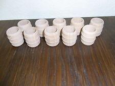 10 kleine Holzfässer für Kaufläden etc oben offen d=3cm 4cm hoch