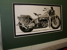 1944 Harley Davidson US Military USA  Motorcycle Exhibit From Automotive Museum