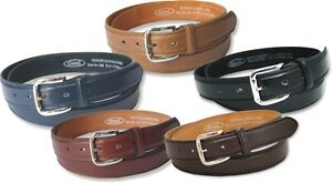 NEW MENS STYLISH LEATHER LINED SUIT TROUSER WAIST BELT NWT 5 COLOURS