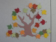 Sizzix Fall Tree & Martha Stewart Fall Leaf Die Cuts In Stampin' Up! Cardstock