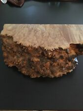 Michael Elkan hand-carved free edge burl wood jewelry box