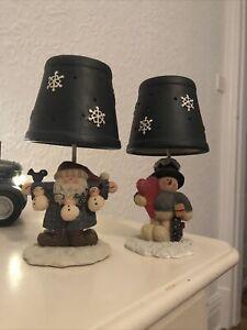 Yankee Candle Christmas Tealight Holders X2