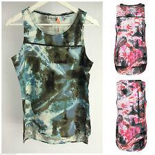 Ärmellose Taillenlang Damenblusen,-Tops & -Shirts mit Viskose für Party