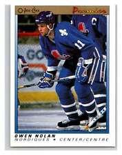 (HCW) 1990-91 OPC Premier #86 Owen Nolan RC Rookie Nordiques Mint