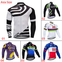 Men's Long Sleeve Cycling Jerseys Bike Riding Long Shirt Maillot Jersey Outfits