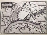 Montauban en 1638 Tarn Garonne Carte ancienne Fortification