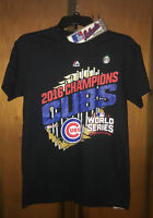 Nwt Chicago Cubs Majestic 2016 World Series Champions T-shirt. Sz Small & Black