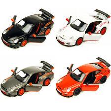 Set of 4:New Kinsmart 2010 Porsche 911 GT3 RS Diecast Toy Model 1:36 Pull Action