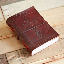 Fair Trade Handmade Indra Celtic Cross Leather Journal Notebook Diary
