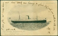 """1905 NEW YORK, NY THE CLYDE STEAMSHIP CO. PASSENGER LINER """"S.S. ALGONQUIN"""" VF"""
